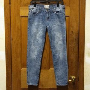 Current/ Elliot Rose Pattern Capri Jeans